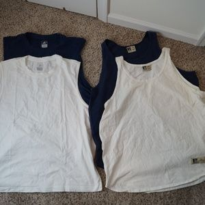 LOT of 4 Vintage 90s Athletic Russell Pro Cotton T